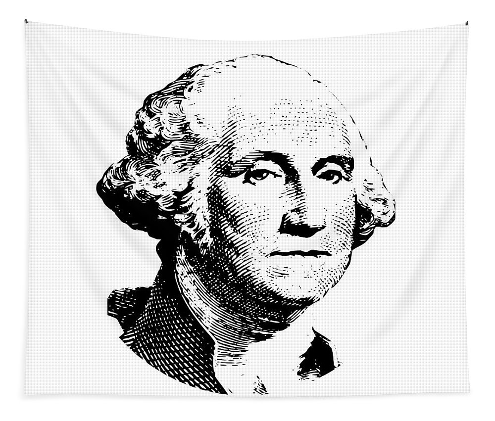 General George Washington Tapestry featuring the digital art President Washington by War Is Hell Store