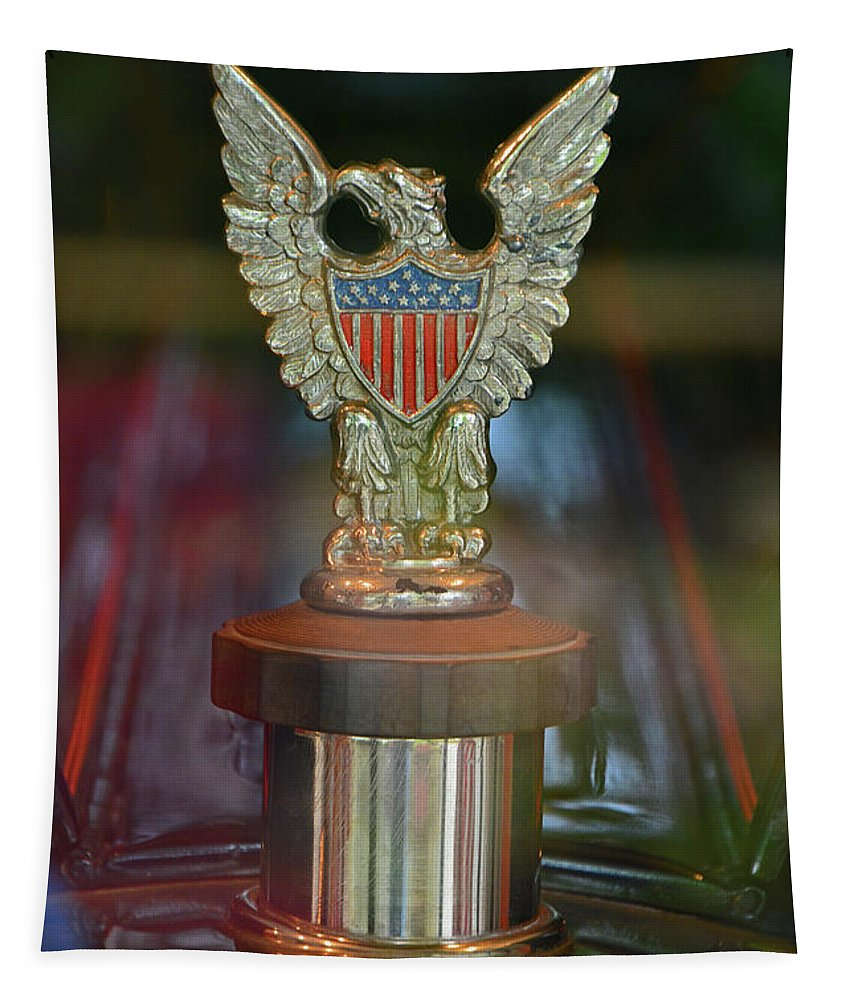 Presidential. Hood Tapestry featuring the photograph Presidential Hood Ornament by Mike Martin