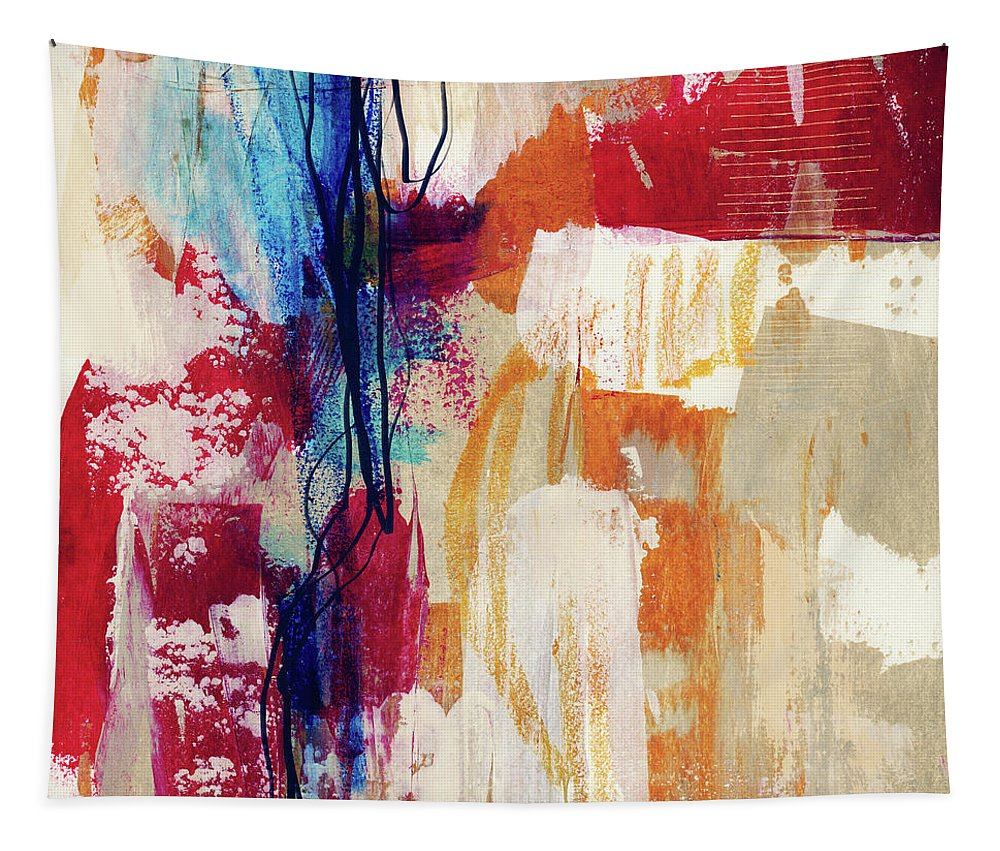 Abstract Painting Tapestry featuring the painting Primary 2- Abstract Art By Linda Woods by Linda Woods