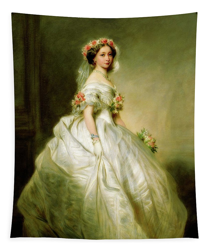 Painting Tapestry featuring the painting Princess Alice Of The United Kingdom by Franz Xaver Winterhalter