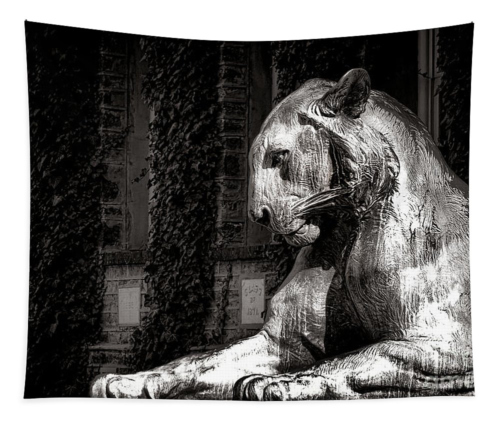 Princeton Tapestry featuring the photograph Princeton University Mighty Tiger by Olivier Le Queinec