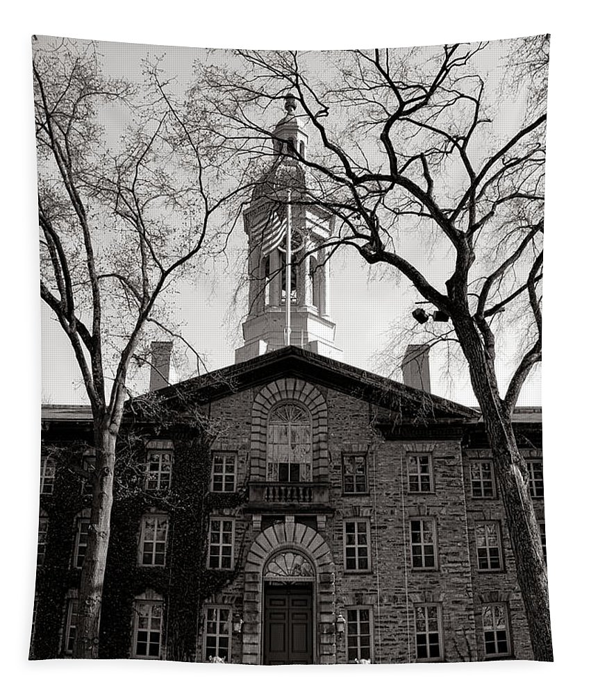 Princeton Tapestry featuring the photograph Princeton University Nassau Hall by Olivier Le Queinec