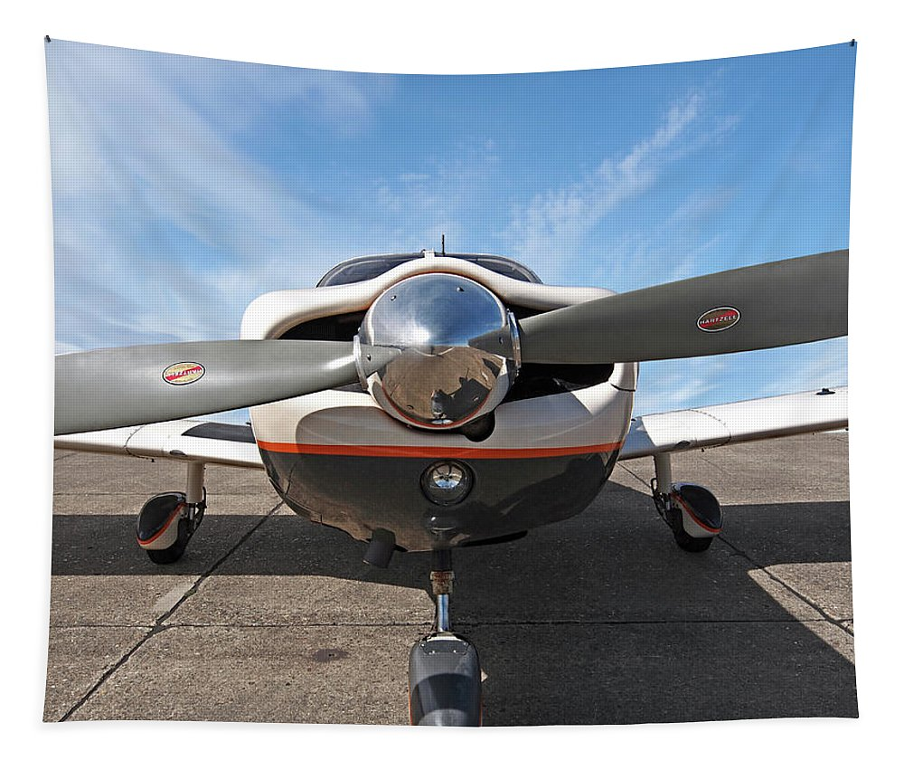 Aviation Tapestry featuring the photograph Piper Pa-32-300 Cherokee Six Prop by Gill Billington