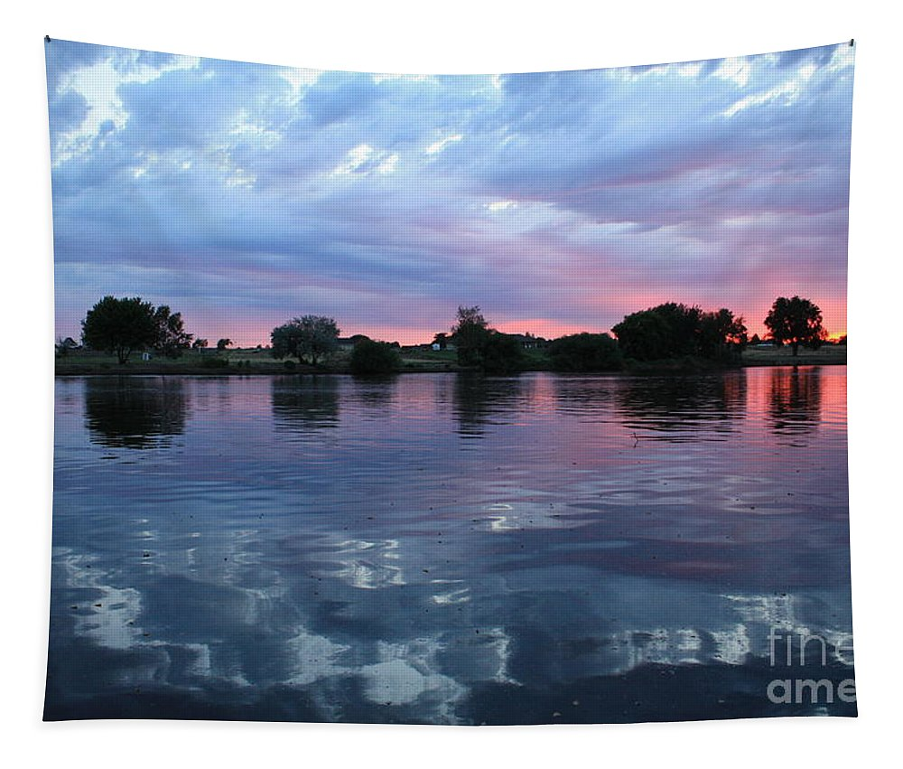 Sunset Tapestry featuring the photograph Prosser Pink Sunset 5 by Carol Groenen