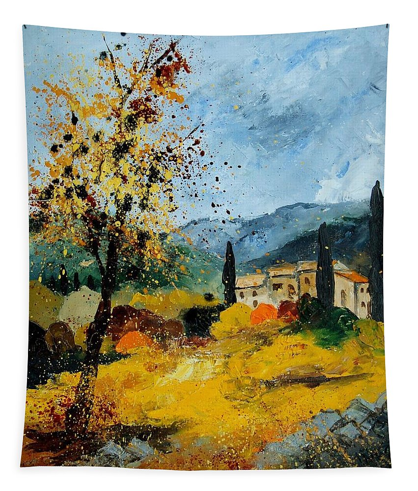 Provence Tapestry featuring the painting Provence 45 by Pol Ledent