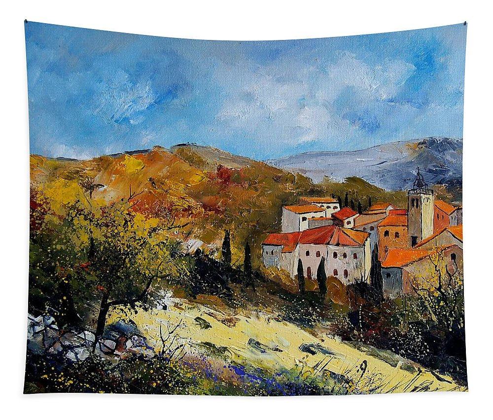 Provence Tapestry featuring the painting Provence 679050 by Pol Ledent