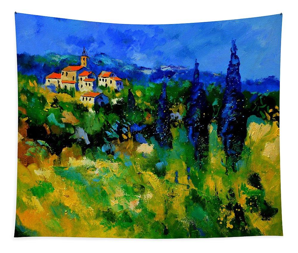 Landscape Tapestry featuring the painting Provence 768110 by Pol Ledent
