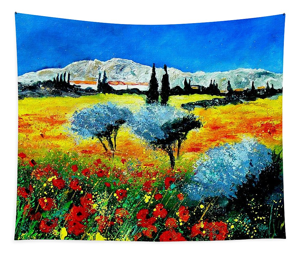 Poppies Tapestry featuring the painting Provence by Pol Ledent
