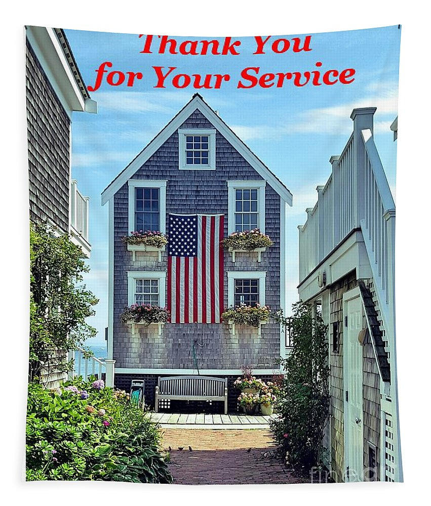 9/11 Tapestry featuring the photograph Provincetown Patriot By Sharon Eng by Sharon Eng