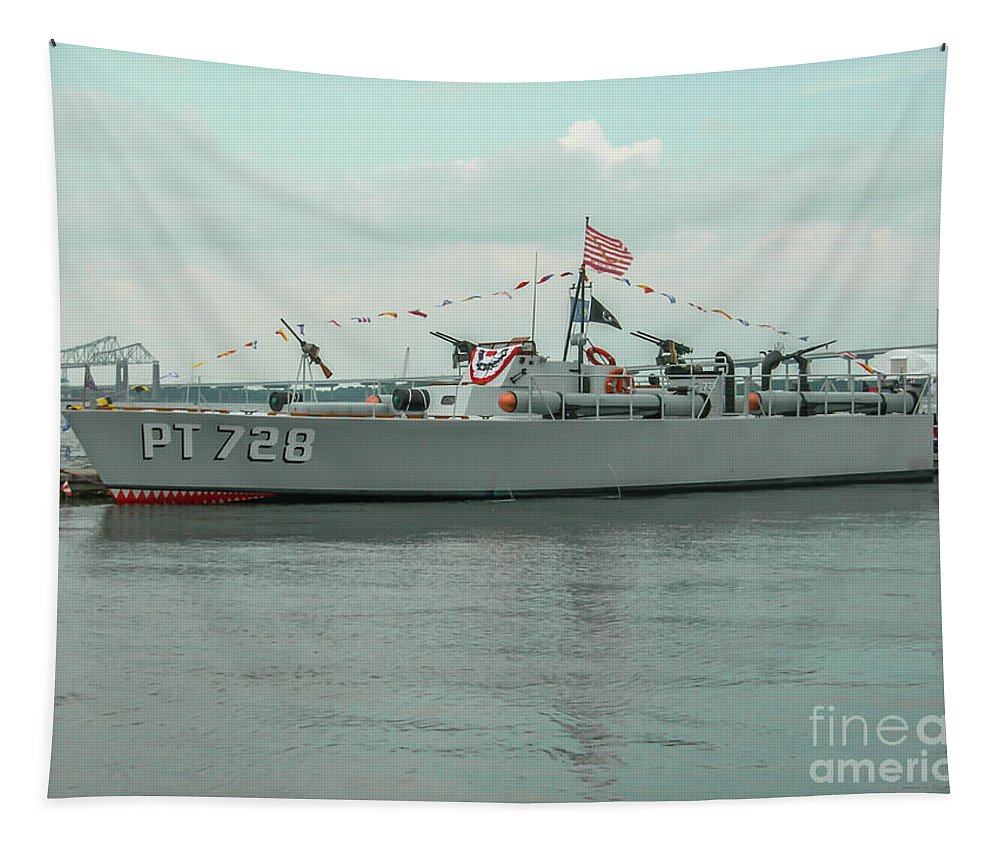 Pt 728 Boat Tapestry featuring the photograph Pt 728 Motor Boat by Dale Powell