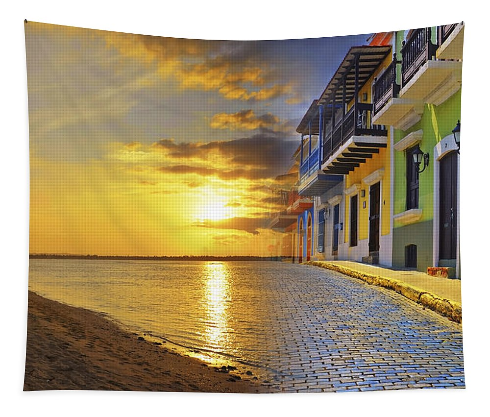 Puerto Rico Tapestry featuring the photograph Puerto Rico Montage 1 by Stephen Anderson