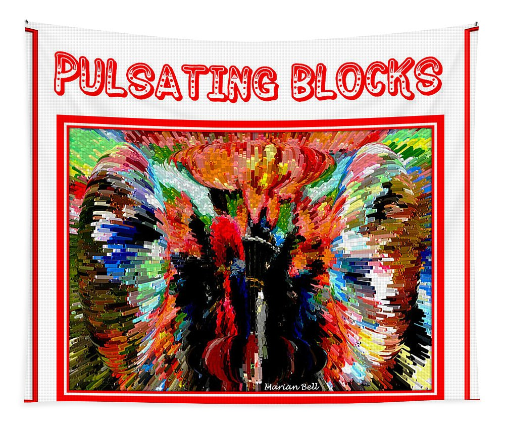 Digital Art Tapestry featuring the photograph Pulsating Blocks Poster by Marian Bell
