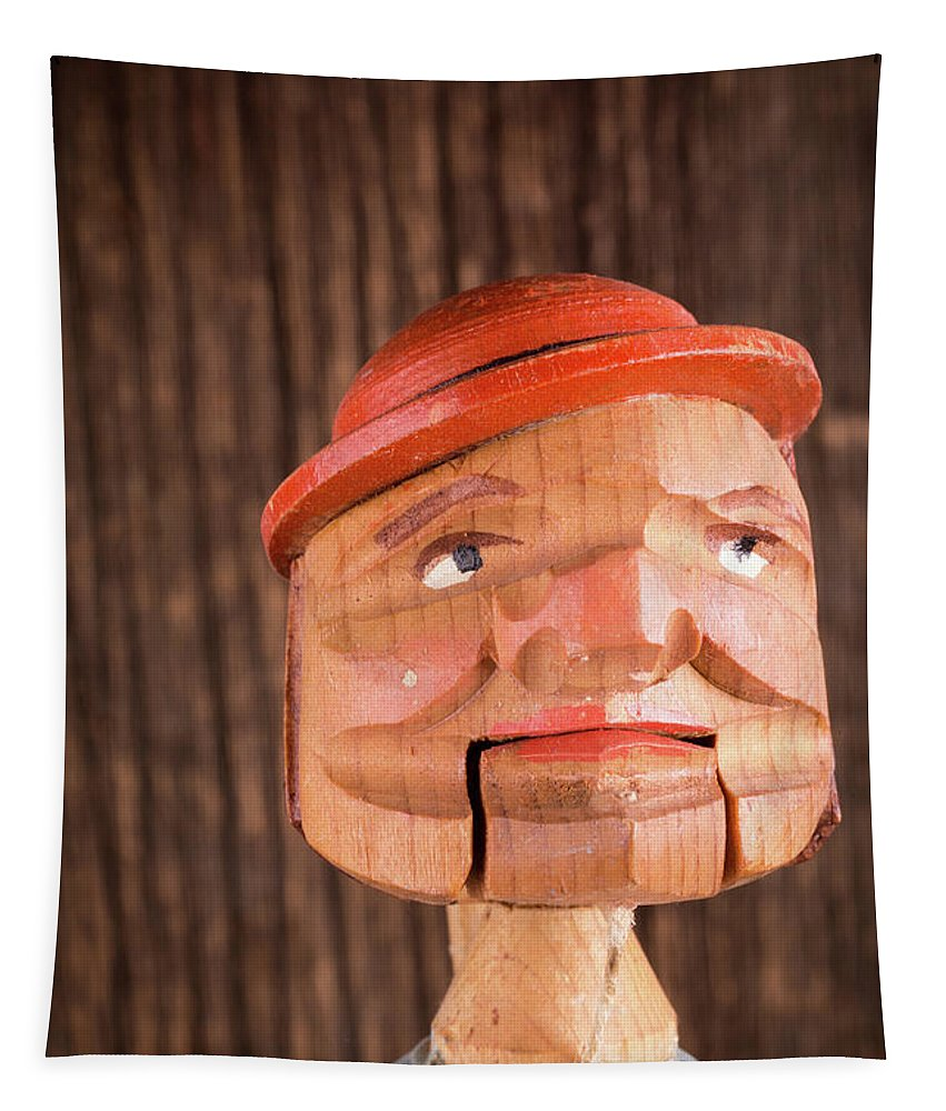 Man Tapestry featuring the photograph Puppet Head by Edward Fielding