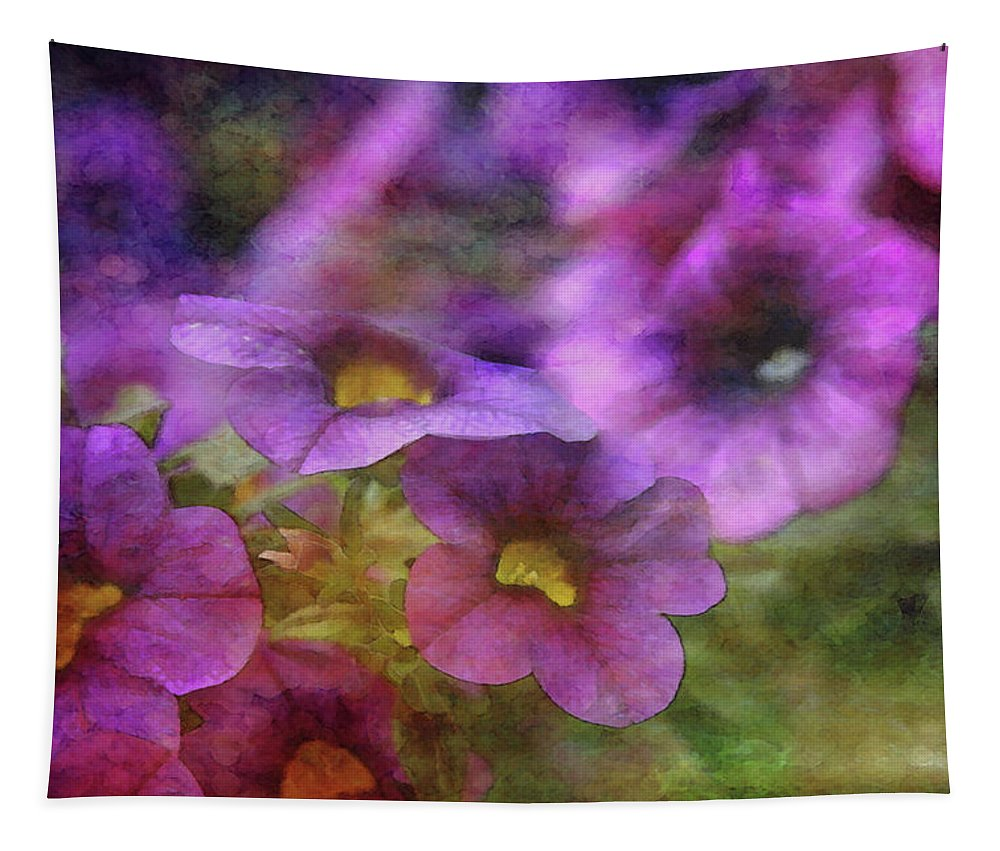Impressionist Tapestry featuring the photograph Purple And Yellow Morning 9121 Idp_2 by Steven Ward