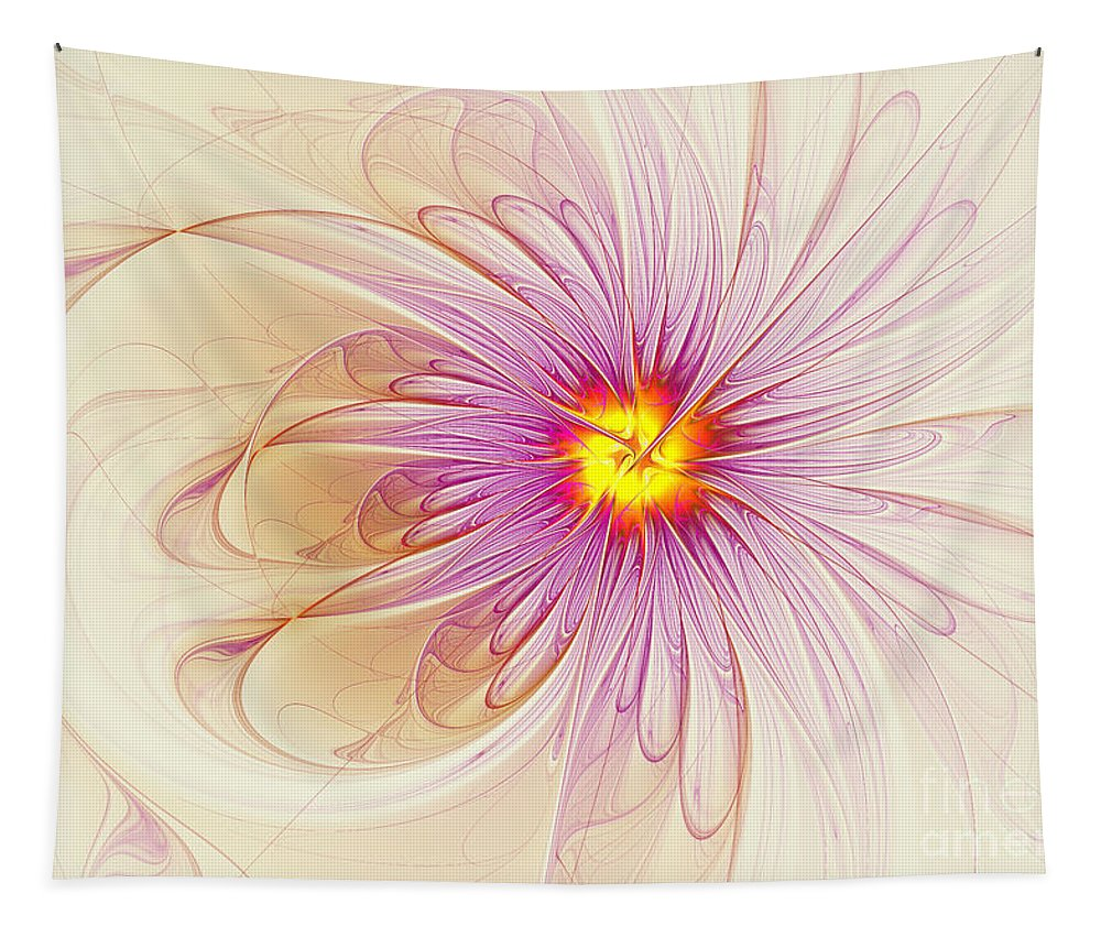 Digital Tapestry featuring the digital art Purple Blossom by Deborah Benoit
