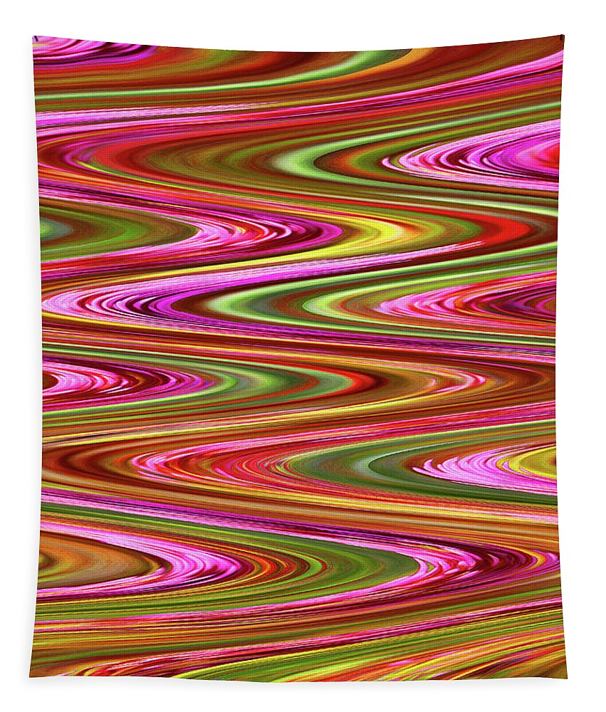 Purple Flowers Abstract Tapestry featuring the photograph Purple Flowers Abstract by Tom Janca