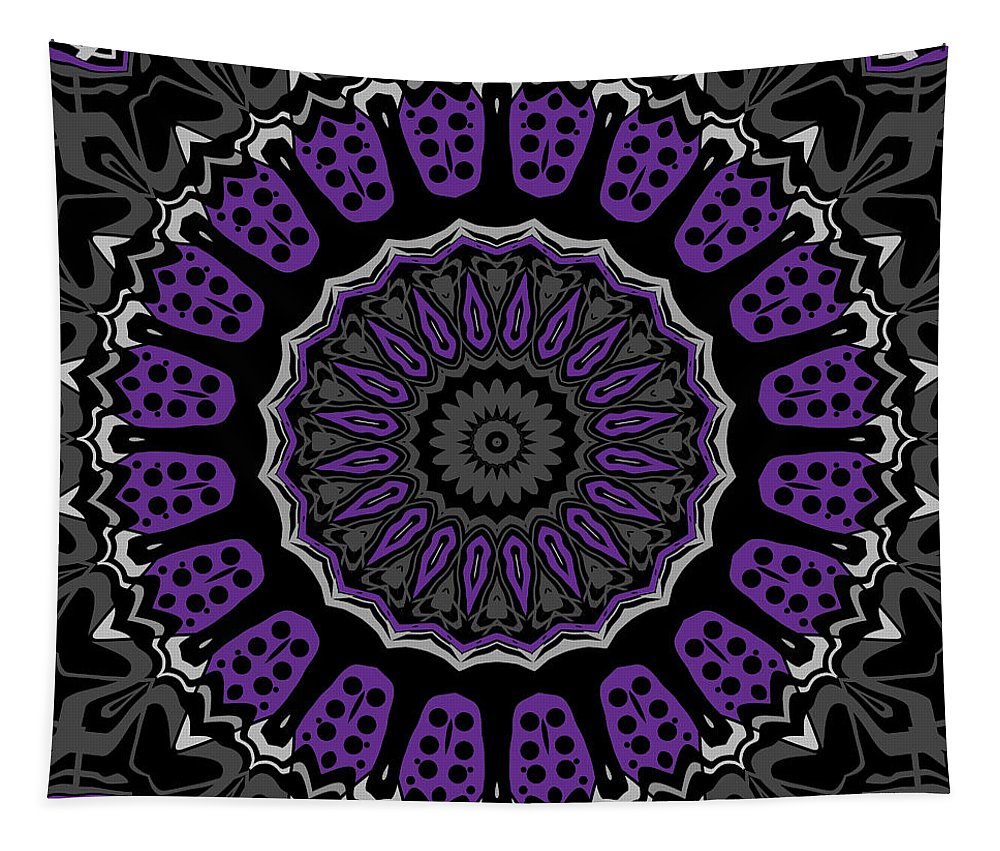 Digital Tapestry featuring the digital art Purple Passion No. 1 by Joy McKenzie