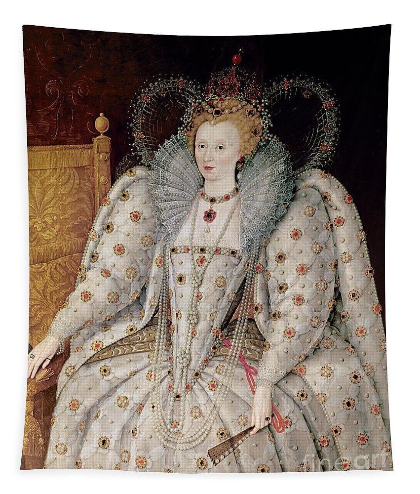 Queen Tapestry featuring the painting Queen Elizabeth I Of England And Ireland by Anonymous