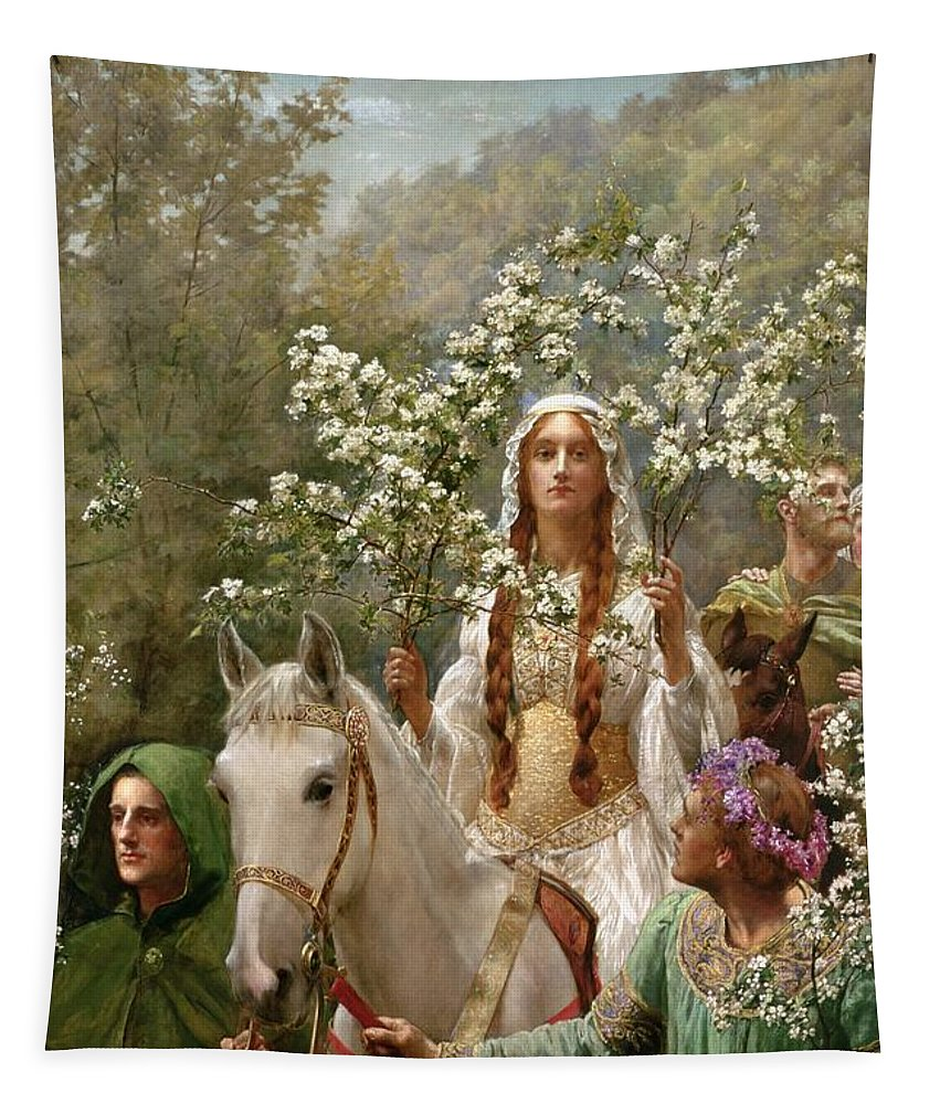 Queen Tapestry featuring the painting Queen Guinevere by John Collier