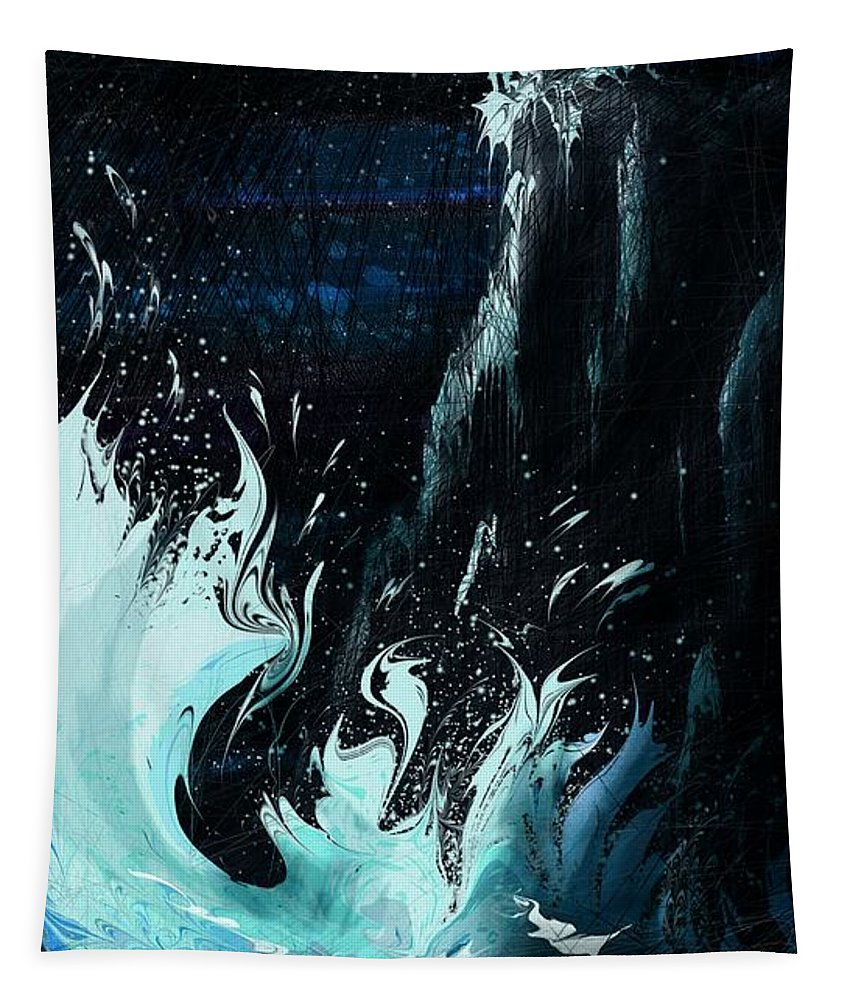 Abstract Tapestry featuring the digital art Queen of the Seas by William Russell Nowicki