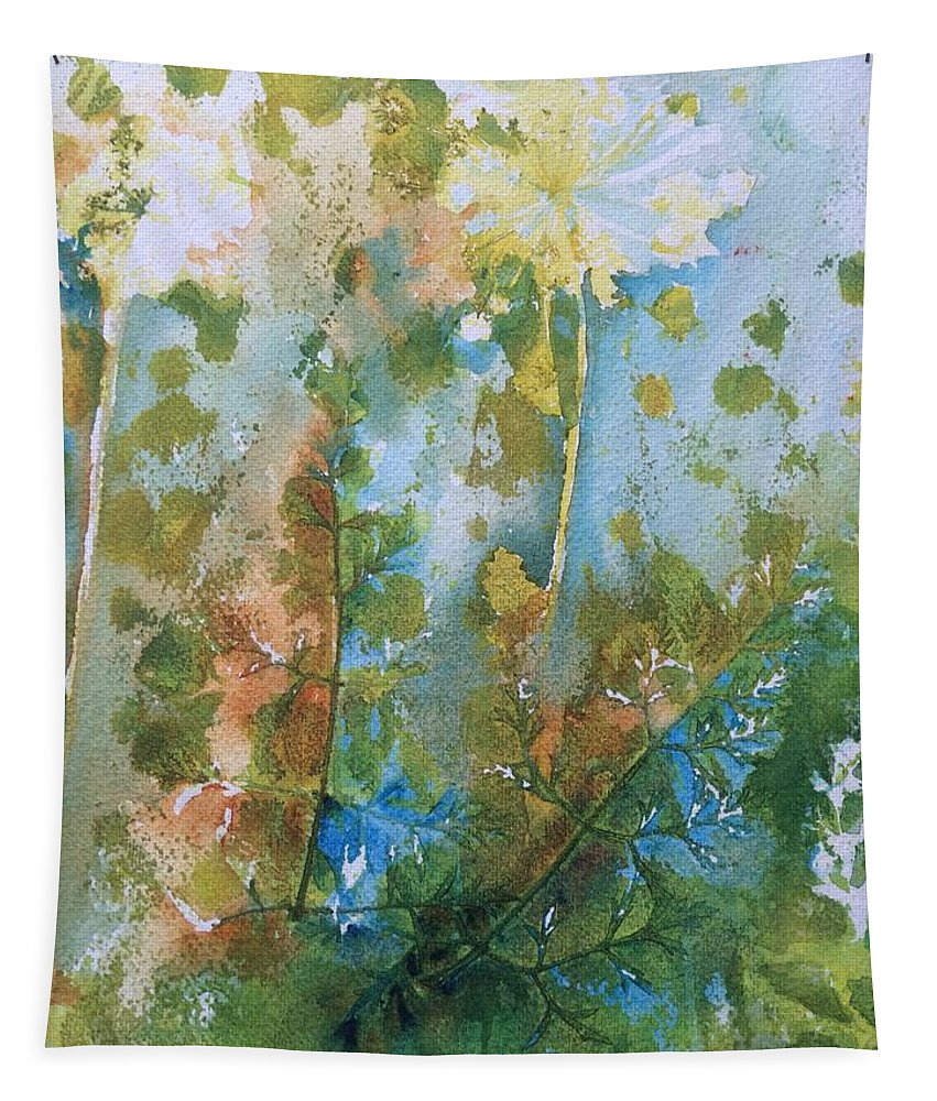 Flower Tapestry featuring the painting Queens Lace 2 by Katherine Berlin