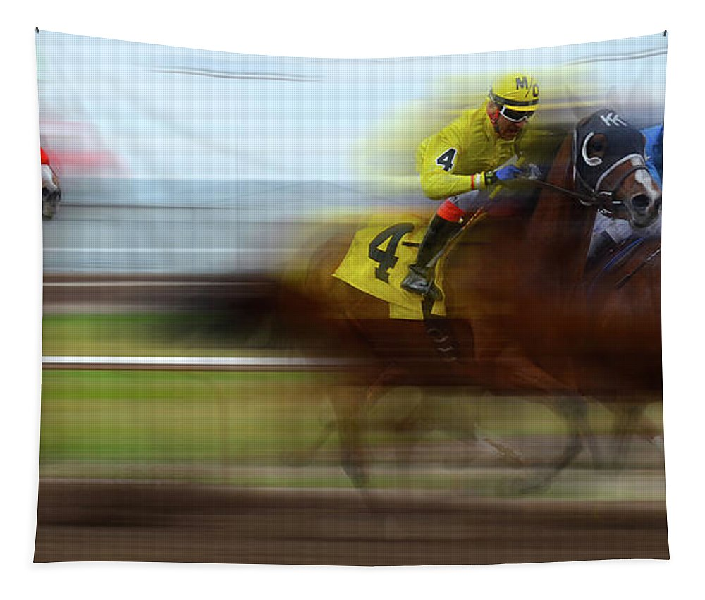 Dream Tapestry featuring the photograph Racetrack Dreams 1 by Bob Christopher