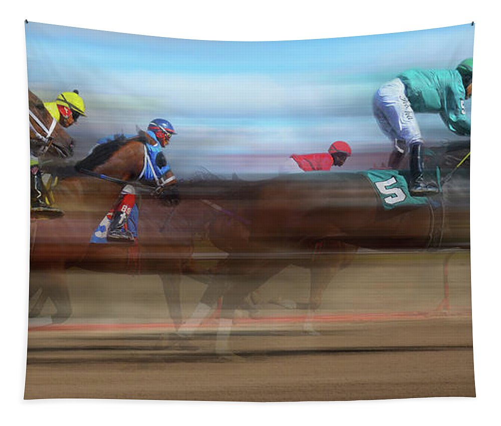 Dream Tapestry featuring the photograph Racetrack Dreams 2 by Bob Christopher