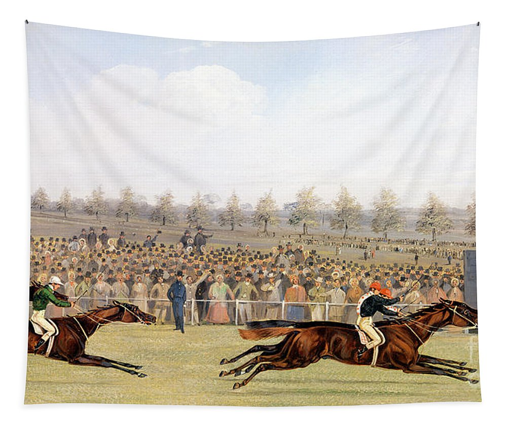 Racing Scene Tapestry featuring the painting Racing Scene by Henry Thomas Alken