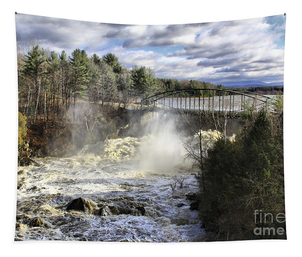 Falls Tapestry featuring the photograph Raging Water by Deborah Benoit