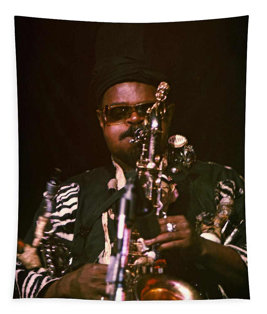 Rahsaan Roland Kirk Tapestry featuring the photograph Rahsaan Roland Kirk 3 by Lee Santa
