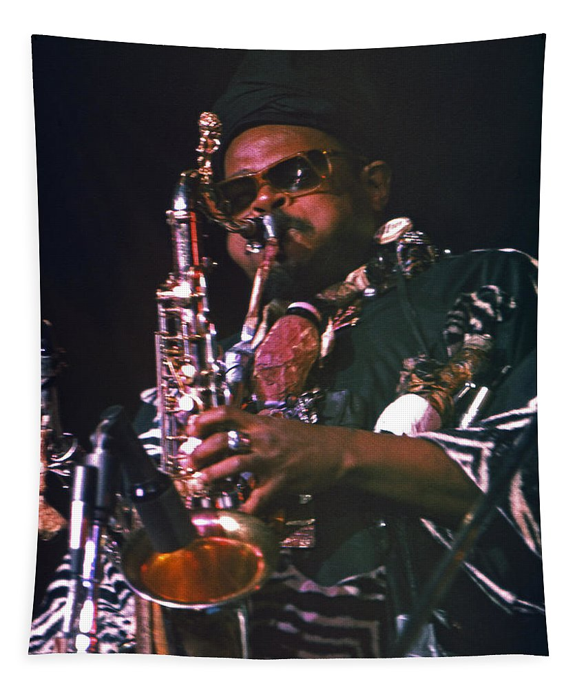 Rahsaan Roland Kirk Tapestry featuring the photograph Rahsaan Roland Kirk 4 by Lee Santa