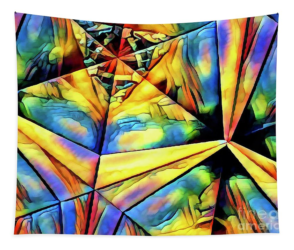 Abstract Tapestry featuring the digital art Rainbow Abstract by Debra Lynch