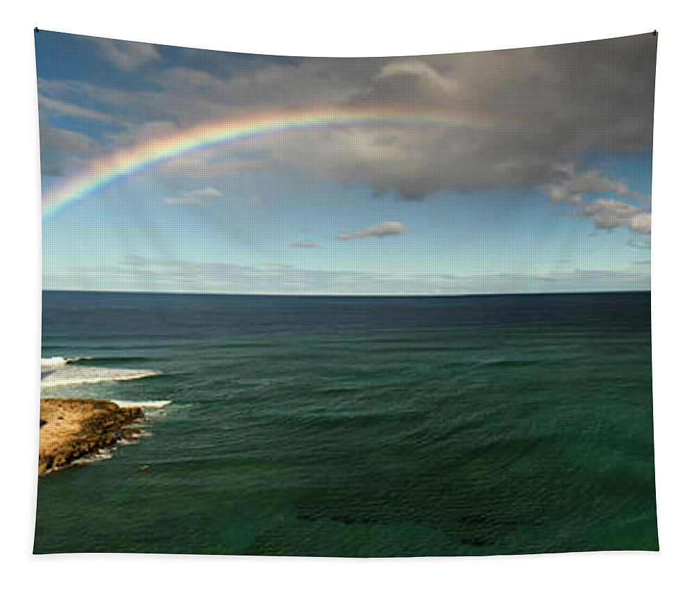 Ocean Tapestry featuring the photograph Rainbow At Mauna Lahilahi by Debby Richards