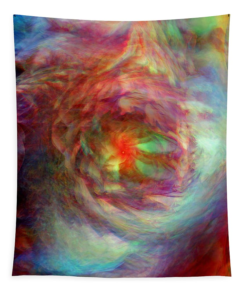 Rainbow Dreams Tapestry featuring the digital art Rainbow Dreams by Linda Sannuti
