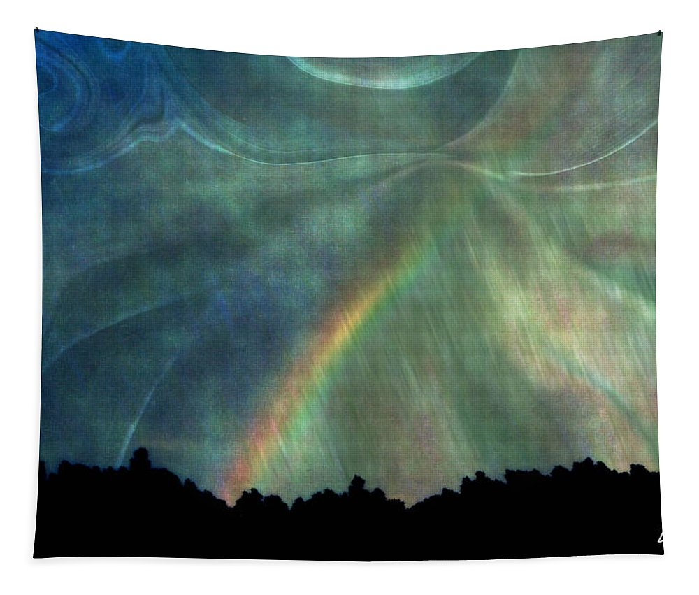 Nature Tapestry featuring the photograph Rainbow Showers by Linda Sannuti
