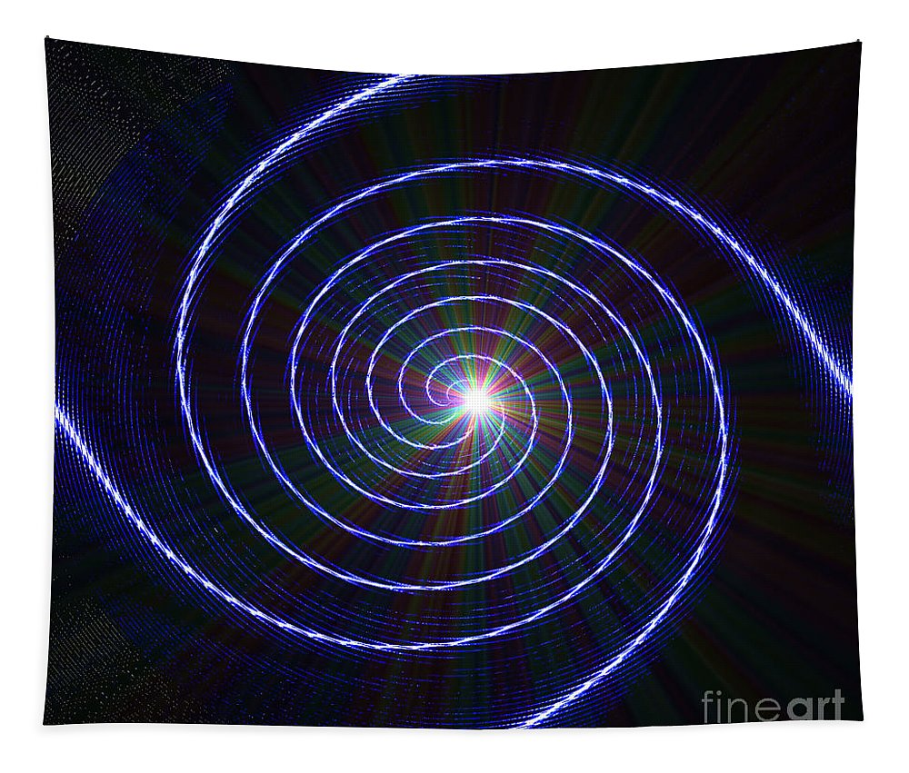 Spinners Tapestry featuring the digital art Rainbow Spinner Off by Debra Lynch