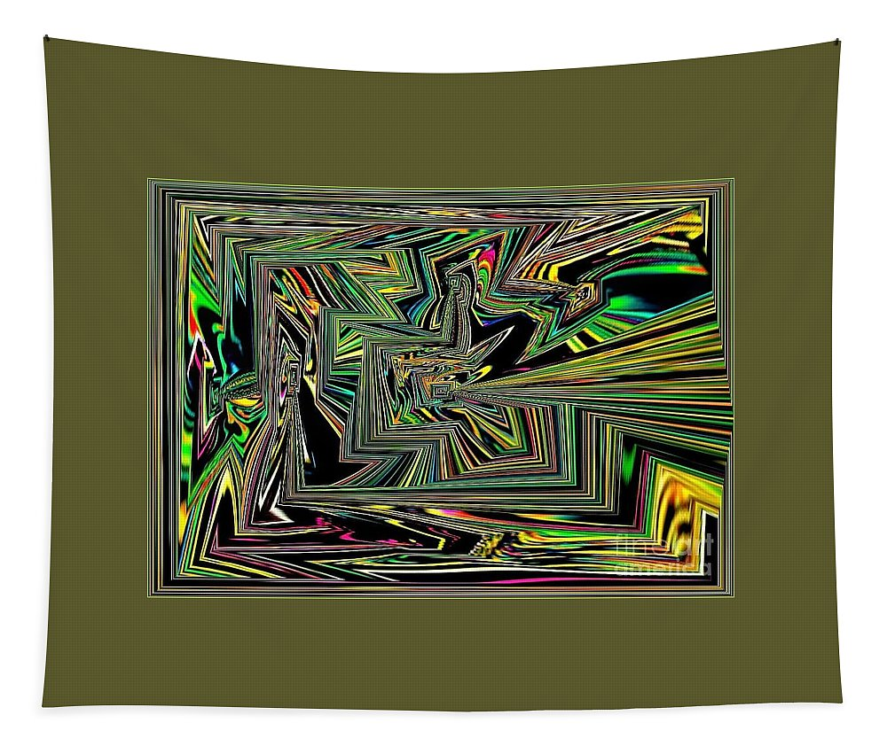 Rainbow Tapestry featuring the digital art Rainbow World On A Clear Day by Debra Lynch