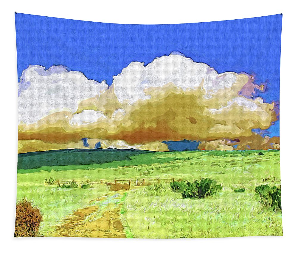 Rain Tapestry featuring the painting Rainmaker by Dominic Piperata