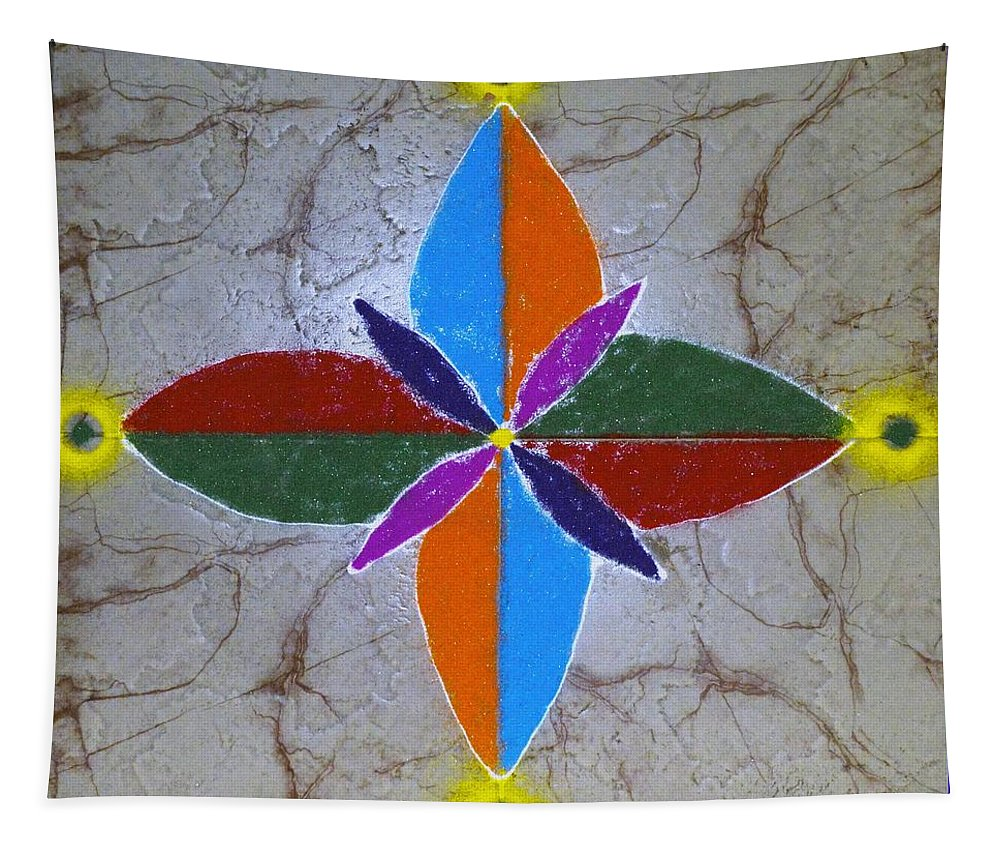 Art For Sale Tapestry featuring the pastel Rangavali by Sonali Gangane