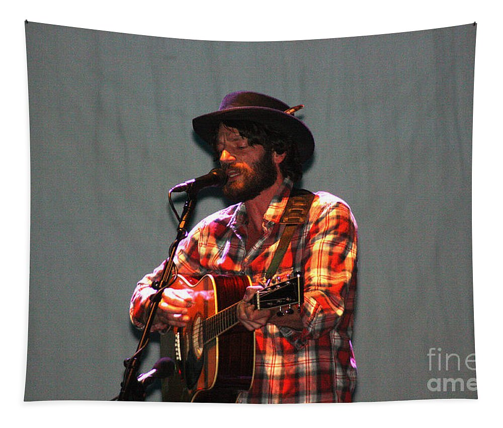 Ray Lamontagne Tapestry featuring the photograph Ray Lamontagne-9039 by Gary Gingrich Galleries