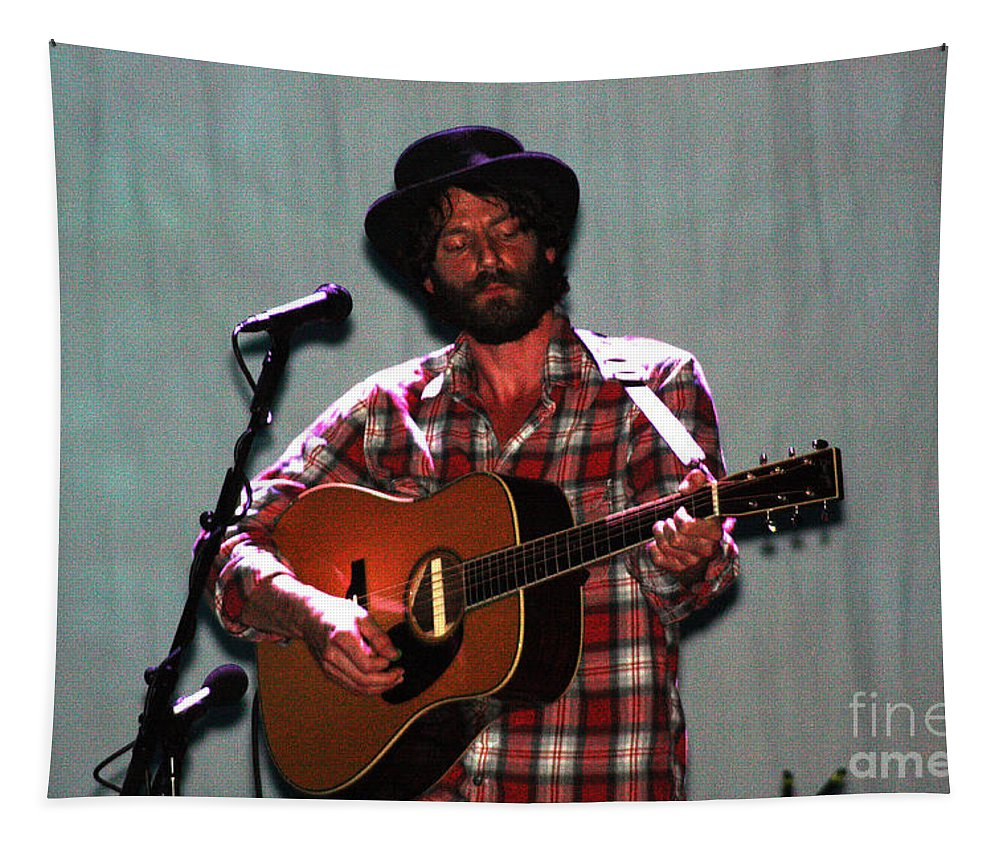 Ray Lamontagne Tapestry featuring the photograph Ray Lamontagne-9040 by Gary Gingrich Galleries
