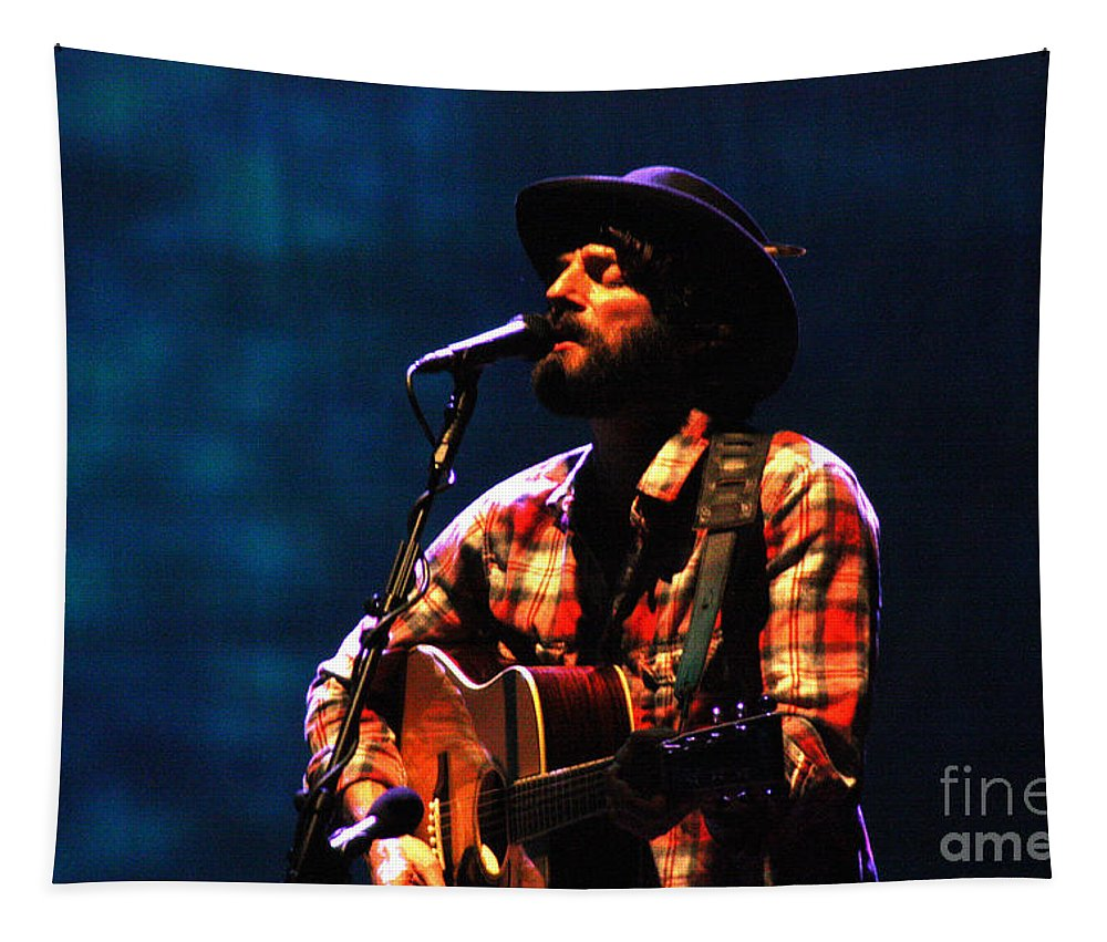 Ray Lamontagne Tapestry featuring the photograph Ray Lamontagne-9053 by Gary Gingrich Galleries