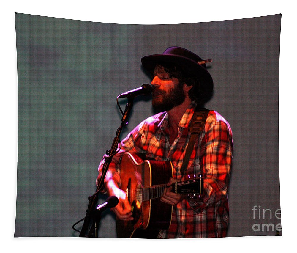 Ray Lamontagne Tapestry featuring the photograph Ray Lamontagne-9124 by Gary Gingrich Galleries
