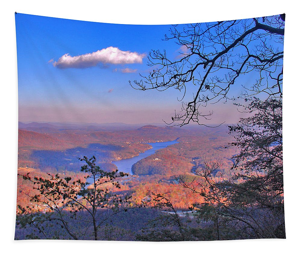 Landscape Tapestry featuring the photograph Reaching For A Cloud by Steve Karol