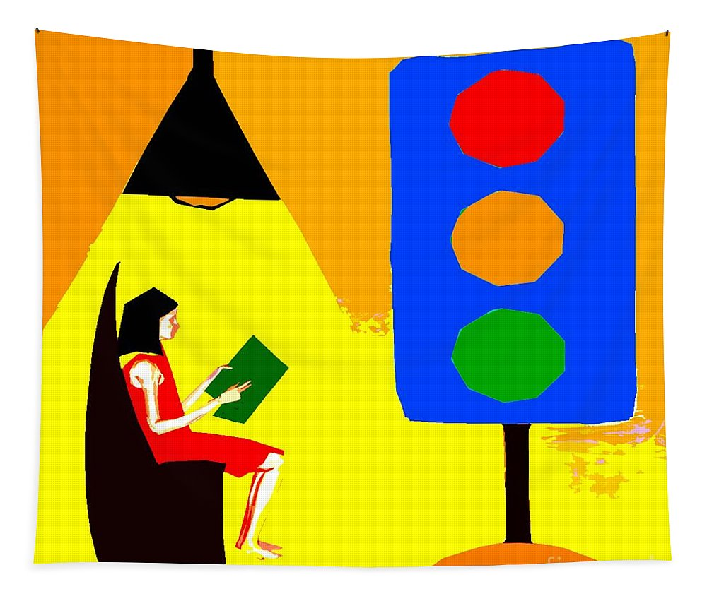 Reader Tapestry featuring the painting Reader 2 by Patrick J Murphy