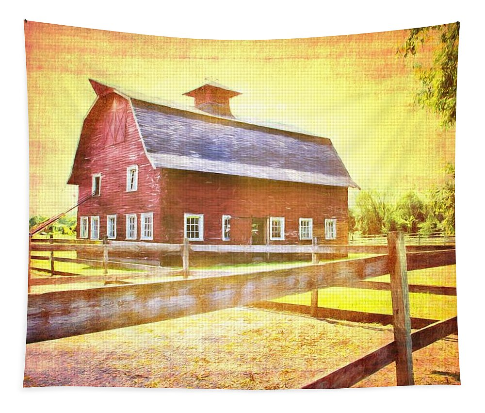 Alicegipsonphotographs Tapestry featuring the photograph Ready For The Hay by Alice Gipson