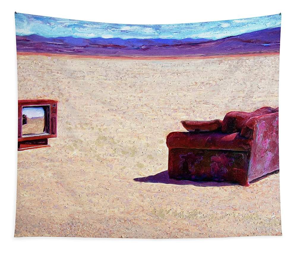 Desert Tapestry featuring the painting Reality T V by Dominic Piperata