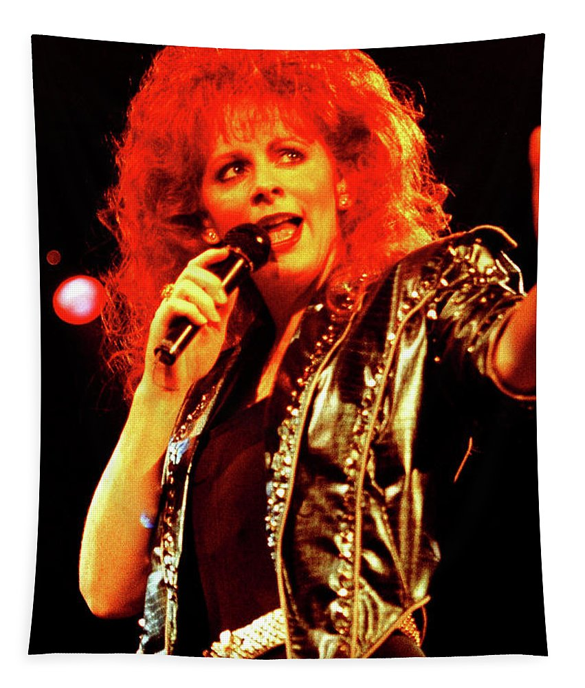 Reba Mcentire Tapestry featuring the photograph Reba-93-0697 by Timothy Bischoff