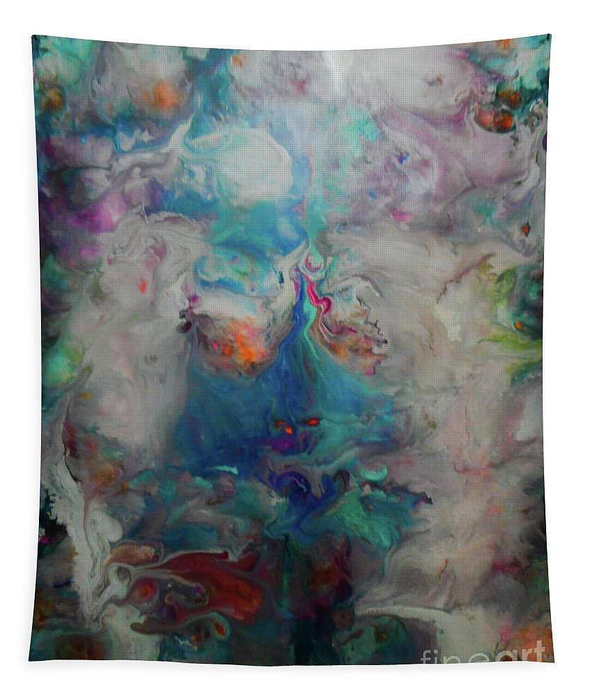 Abstract Tapestry featuring the painting Reborn by Elle Justine
