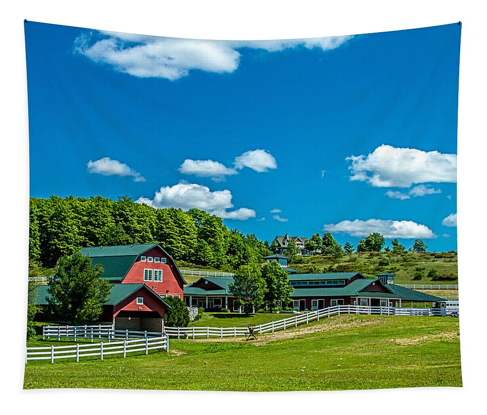 House Tapestry featuring the photograph Red Barn On Hoyt Road by Bill Gallagher